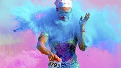 color me rad heather hudock Heather Hudock, 33, of Washington, Pa., gets a faceful of gluten-free color during the Color Me Rad Pittsburgh 5K Run in August.