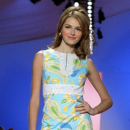 Croissant Fantine dress Croissant Fantine dress at the Lilly Pulitzer Spring 2005 show.