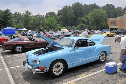 Cruise_9 A 1972 Olympic blue Karman Ghia belonging to Carol Marino of Kennedy. She and her husband found this car in St. Louis and had it restored in the 1970s.
