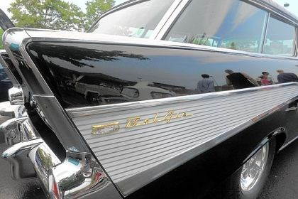 Cruise_7 A 1957 Bel-Air Nomad at the Vintage Grand Pix car cruise at the Waterfront in Homestead.