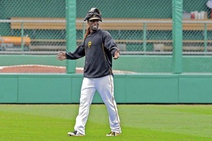 cutch Pirates center fielder Andrew McCutchen walks the outfield in a workout Sunday that was open to the public at PNC Park.