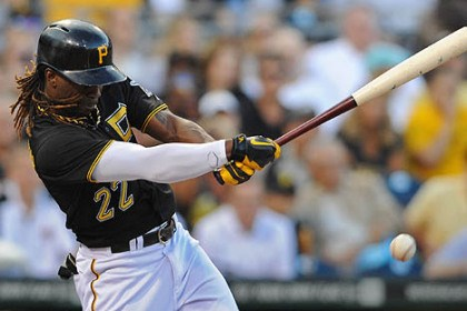 cutch hits a home run Andrew McCutchen drives in a run with a single against the Brewers in the second inning at PNC Park Friday night.