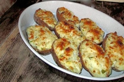 "Diane Morgan Twice-Baked Gruyere Potatoes with Lots of Green Onions from ""Roots"" by Pittsburgh native Diane Morgan."