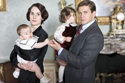 "'Downton Abbey' Now widowed, Mary Crawley (Michelle Dockery) forms a bond with Tom Branson (Allen Leech) the new season of ""Downton Abbey."""