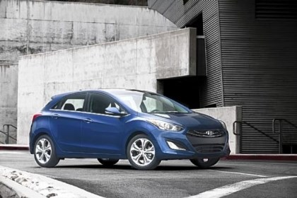elantra The 2013 Hyundai Elantra GT is pleasing to the eye and offers an air of sportiness, if not actual sportiness.