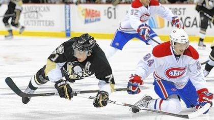 Evgeni Malkin Evgeni Malkin, tripped up by the stick of the Canadiens' Tom Pyatt in a game earlier this year, will miss the Penguins first game after the all-star break tonight at Madison Square Garden because of continuing sinus problems.