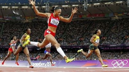 felix After settling for silver twice, Allyson Felix drives to the finish of her first Olympic gold medal in the women's 200-meter dash Wednesday in London.