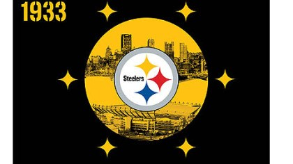 flag The Steelers flag designed by Army veteran Brent Osbourne.