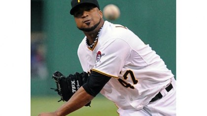 Francisco Liriano Pirates starting pitcher Francisco Liriano in the first inning.