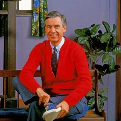 fred rogers Fred Rogers starts another beautiful day in the neighborhood.