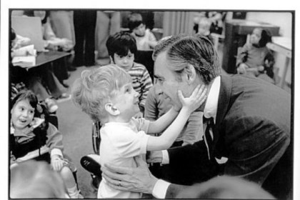 Fred Rogers The 1978 photo of Fred Rogers and the unnamed little boy at Pittsburgh's Children's Institute