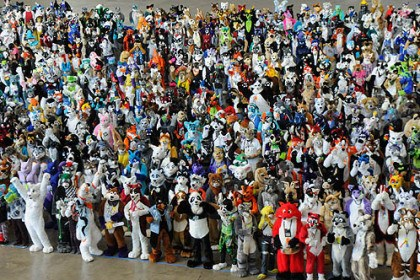 "Furries parade 5 More than 1,000 people turned out in fur suits to participate in a parade at the David L. Lawrence Convention Center, Downtown. Participants were aiming to set a world record for the largest ""furries"" parade."