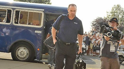 Game day arrivals Penn State head coach Bill O'Brien arrives at Beaver Stadium in State College, the first off the team bus prior to their game against Ohio University.