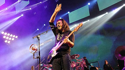 Geddy Lee Geddy Lee performs Tuesday night with Rush at Consol Energy Center.