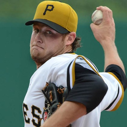 Gerrit Cole Rookie Gerrit Cole allowed only three runs in 5 2/3 innings and registered his second win in as many starts as the Pirates beat the Dodgers, 6-3, before a crowd of 37,263 at PNC Park Sunday.