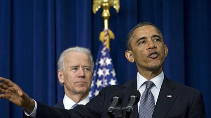 Obama and Biden President Barack Obama and Vice President Joe Biden this afternoon are expected to discuss revised criteria for the Trade Adjustment Assistance and Community College and Career Training competitive grant program.