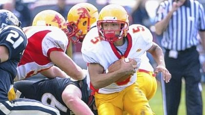 High School football North Catholic running back P.J. Fulmore makes a cut Saturday against Riverview.