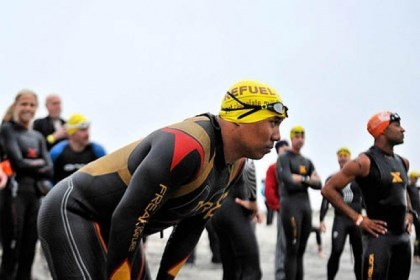 Hines Ward Hines Ward waits for the start of the 2013 Seal Sprint Triathlon in Coronado, Calif., last month.