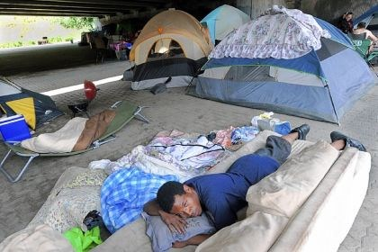 homeless The homeless living in one of several camps beneath a labyrinth of overpasses on the North Shore have been given five days to vacate the area.