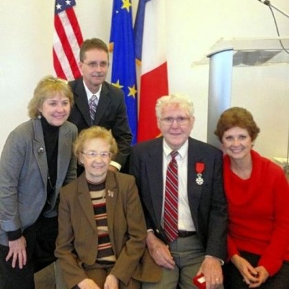 Hughes The Hughes family, from left, Patricia Hutchinson, Terry Hughes, Lucille Hughes, William Hughes and Susan Mead. William Hughes of North Huntingdon was named a chevalier of the Legion of Honor.