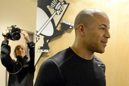 iginla Newly acquired Jarome Iginla met the media Saturday before playing his first game in a Penguins uniform.
