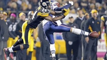 Ike Taylor Ike Taylor breaks up a pass intended for the Patriots' Taylor Price in the fourth quarter of a game in October.
