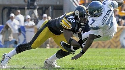 James Harrison James Harrison sacks Seattle quarterback Tarvaris Jackson during a game at Heinz Field last season.