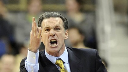 Jamie Dixon Pitt head coach Jamie Dixon complains to a referee in the first half.