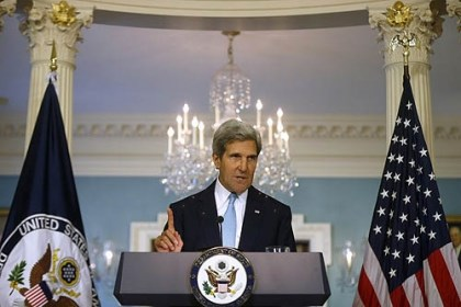 John Kerry Secretary of State John Kerry makes a statement Friday about Syria at the State Department in Washington. Kerry said the U.S. knows, based on intelligence, that the Syrian regime carefully prepared for days to launch a chemical weapons attack.