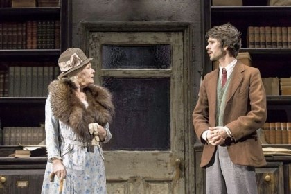"Judi Dench and Ben Whishaw Judi Dench as Alice Liddell and Ben Whishaw as Peter Davies star in ""Peter and Alice."""