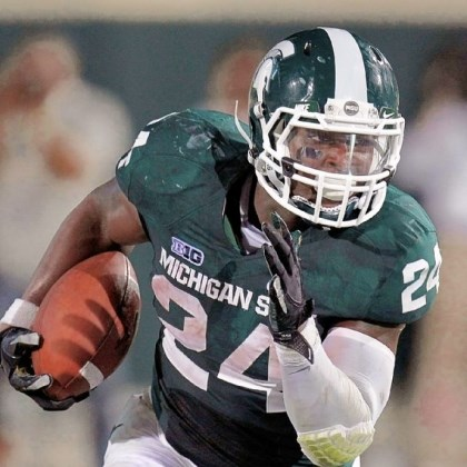 Le'Veon Bell-2 Running back Le'Veon Bell of the Michigan State Spartans.