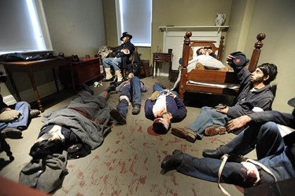 Life-size dioramas of Civil War era scenes Life-size dioramas of Civil War era scenes at the Seminary Ridge Museum. The Lutheran Seminary was used as a makeshift field hospital where casualties, both Federal and Confederate, were treated. Great attention to detail was made in recreating these scenes, as life castings of people who looked like Civil War era soldiers were used as well as the correct soldiers uniforms and insignia.
