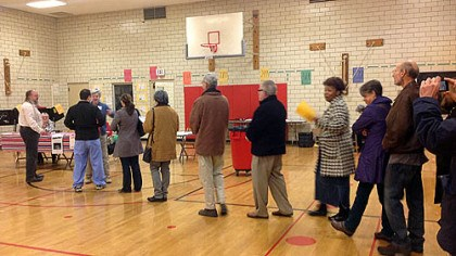 linden academy First voters The first voters enter the poll at 7 a.m. at Linden Academy, Point Breeze.