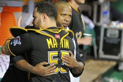 liriano Everyone wanted to hug Francisco Liriano Tuesday night. Russell Martin takes his turn.