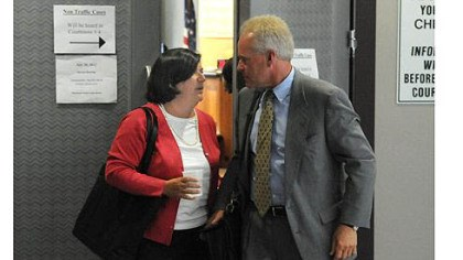 Lisa Sasinoski Lisa Sasinoski, the former chief law clerk of state Supreme Court Justice Joan Orie Melvin, leaves the courtroom Monday after her testimony.