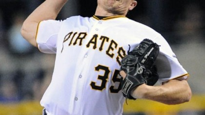 Mark Melancon Pirates pitcher Mark Melancon came on in then ninth inning to close the game as the Pirates won 1-0 over Cubs.