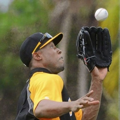 Marte Pirates left fielder Starling Marte makes a running catch during outfield drills at spring training in Bradenton, Fla.
