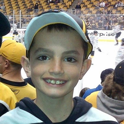 martin richard marathon victim This undated photo provided by Bill Richard, shows his son, Martin Richard, at a Boston Bruins game. Martin Richard, 8, was among those killed in the explosions, at the finish line of the Boston Marathon.