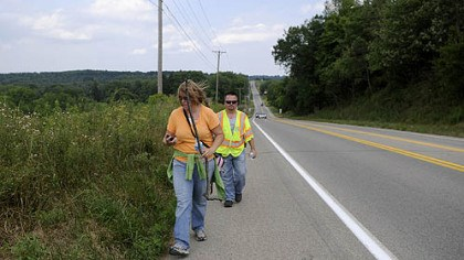 Mike and Michelle Mariacher Mike Mariacher and his wife, Michelle, search Wednesday for his father, Donald Mariacher, on the shoulder of Perry Highway in Mercer County.