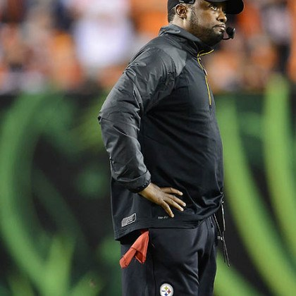 Mike Tomlin Steelers' head coach Mike Tomlin watches the game clock in the final seconds of a 20-10 loss to the the Bengals.