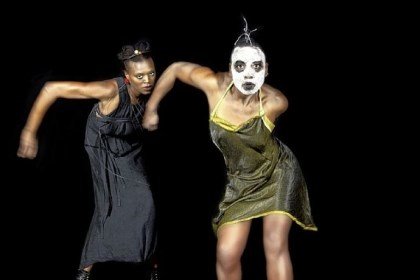 "'Miriam' Dancer/choreographer Nora Chipaumire, right, and Okwui Okpokwasili will present ""Miriam"" as part of the Andy Warhol Museum's Off the Wall series at 8 p.m. Friday and Saturday at the Kelly Strayhorn Theater in East Liberty."