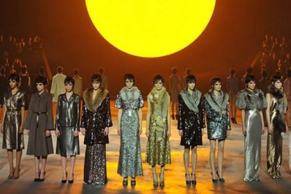 Models Models wear designs by Marc Jacobs during the Mercedes-Benz Fashion Week Fall 2013 collections.