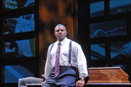 "Montae Russell Homestead native Montae Russell portrays the first African-American U.S. Supreme Court associate justice in Pittsburgh Public Theater's ""Thurgood."""