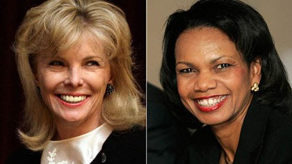 moore and rice Darla Moore, right, and Condoleeza Rice will be the first female members of the Augusta National Golf Club.