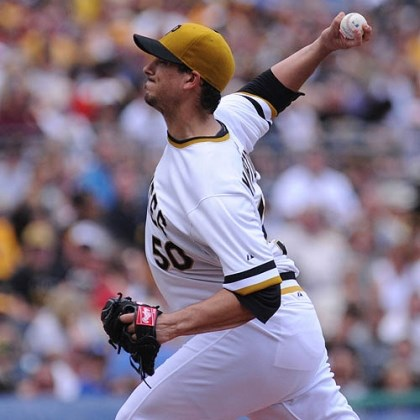morton Pirates starter Charlie Morton only got through two innings Sunday before a long rain delay ended his outing.
