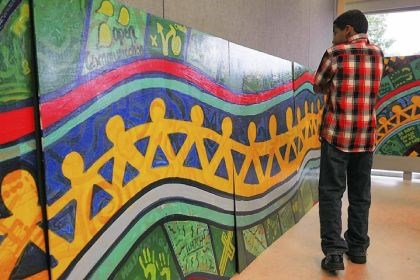 Murals Murals created by Auberle students at the school's main campus in McKeesport.