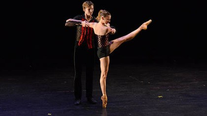 Nicholas Coppula and Alexandra Kochis Pittsburgh Ballet Theatre corps de ballet member Nicholas Coppula and principal dancer Alexandra Kochis perform in Israel.