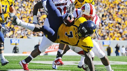 Noel Devine West Virginia running back Noel Devine is dealing with an ankle injury.