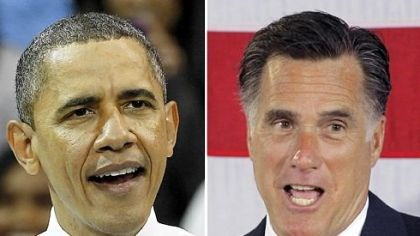 Obama and Romney President Barack Obama and Republican presidential candidate, former Massachusetts Gov. Mitt Romney.