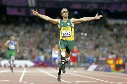 Paralympics South Africa's Oscar Pistorius wins gold in the men's 400-meter T44 final at the 2012 Paralympics, in London on Sept. 8, 2012.